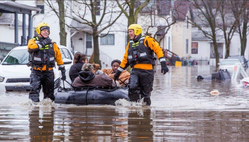 В Мичигане объявлен режим чрезвычайной ситуации из-за сильных дождей и наводнений