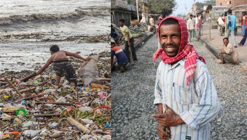В Индии делают пластиковые дороги из океанского мусора