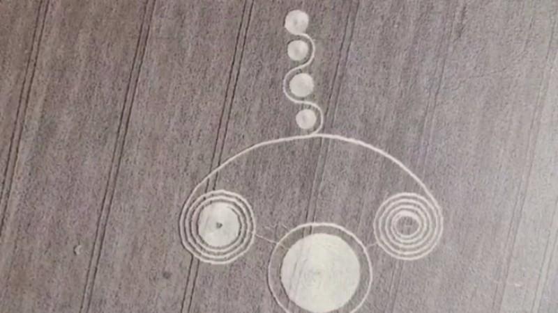 В России обнаружили загадочные круги на пшеничном поле