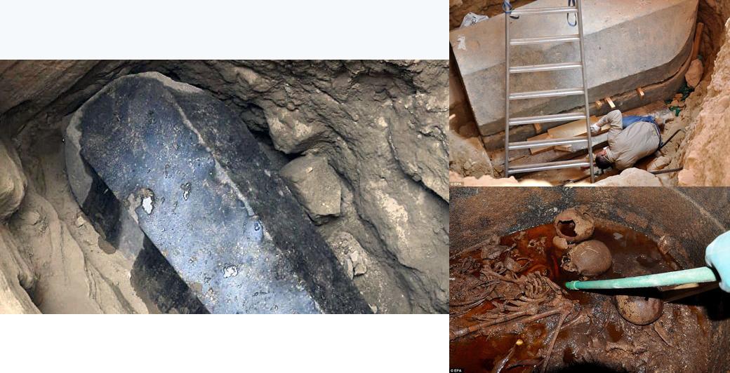 Ученые вскрыли огромный черный саркофаг, возрастом более 2 000 лет