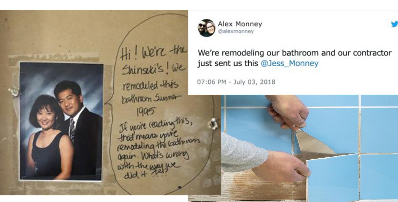 В США семья затеяла ремонт и случайно обнаружила послание из прошлого